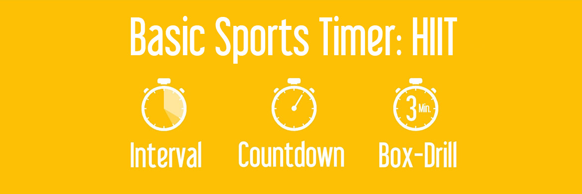 Basic Sports Timer: Simple Countdown, Interval Timer & Box-Drill